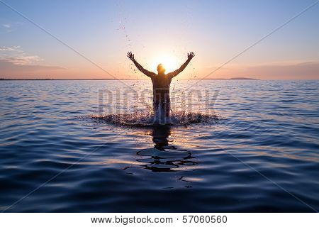 happy swimer