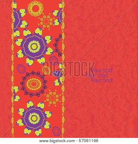 Floral Grunge Invitation Card