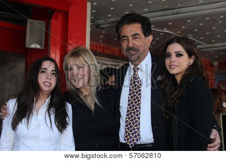 Joe Mantegna and family at Joe Mantegna's induction into the Hollywood Walk Of Fame, Hollywood, CA, 04-29-11