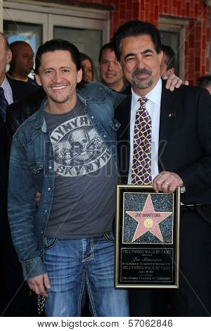 Clifton Collins Jr., Joe Mantegna at Joe Mantegna's induction into the Hollywood Walk Of Fame, Hollywood, CA, 04-29-11