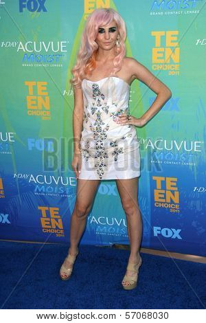 Audrey Kitching at the 2011 Teen Choice Awards, Universal Amphitheater, Universal City, CA. 08-07-11