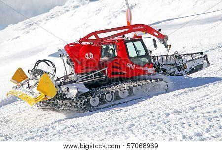 Modern Groomer In Ski Resort Jasna, Slovakia