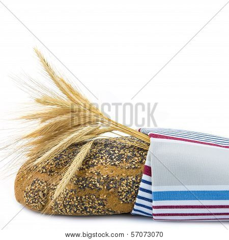Bread Covered With A Dishcloth