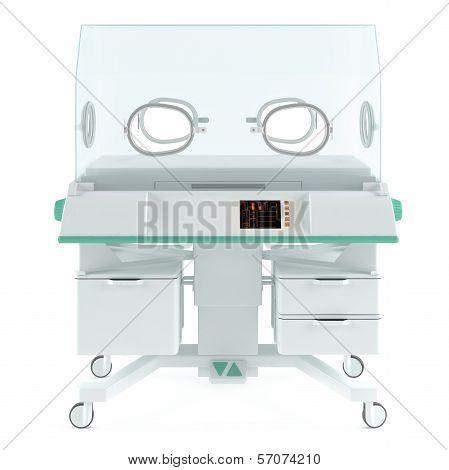 Modern neonatal baby incubator isolated