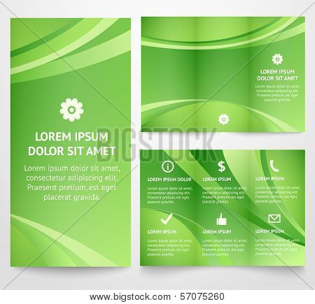 Professional three fold business flyer template