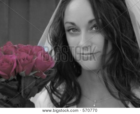 Bride And Roses