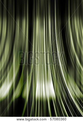 Green And Black Flowing Background