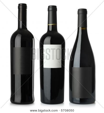 Red Wine Blank Bottles