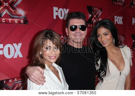 Paula Abdul, Simon Cowell and Nicole Scherzinger at