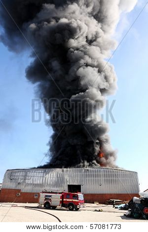 Fire Disaster In Warehouse