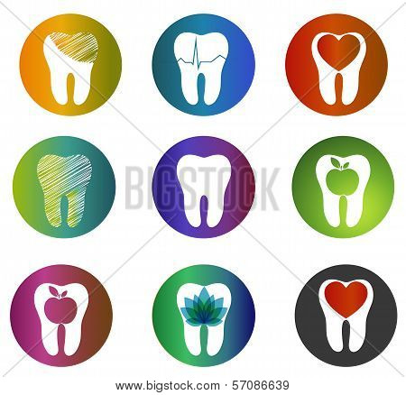 Huge Collection Beautiful Dental Symbols