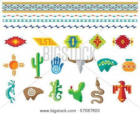 Southwestern designs.