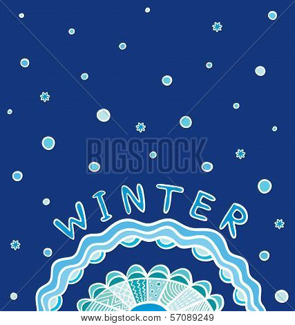 Winter Frame. Decorative Banner
