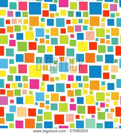 Geometric Square Stickers Seamless Pattern
