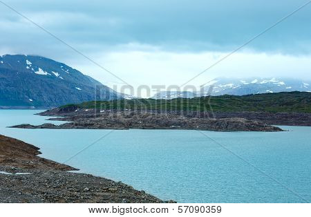 Water Reservoir Storglomvatnet (meloy, Norge)