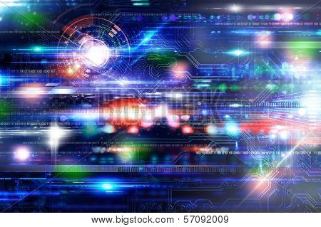 Futuristich Technology Background