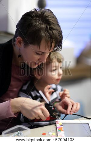 Family With A Glue Gun