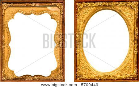TWO BEAUTIFUL VINTAGE DAGUERREOTYPE PICTURE FRAMES