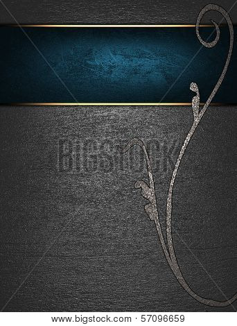 Metal Background with blue nameplate for writing