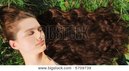 Woman With Very Long Hair