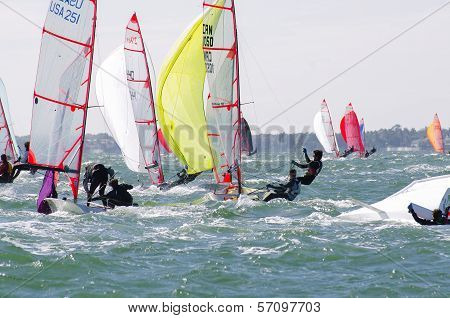 Downwind In A Breeze At The 29Er Nationals