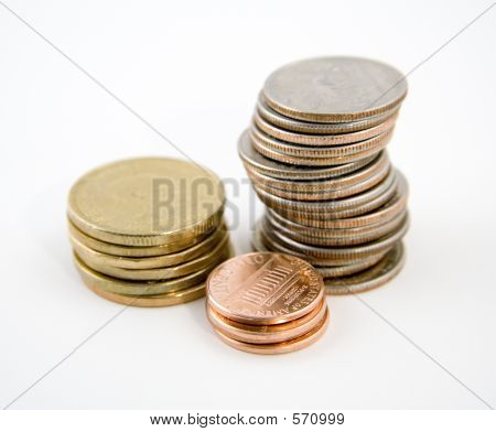 Coins With Clipping Path