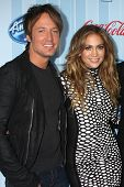 LOS ANGELES - JAN 14:  Keith Urban, Jennifer Lopez at the American Idol Season 13 Premiere Screening