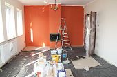 foto of wall painting  - flat renovation - JPG