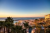 picture of cortez  - Sun rising on the horizon over the Sea of Cortez Mexico - JPG