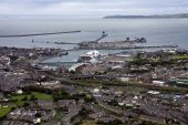 picture of anglesey  - Aerial View of the Isle of Anglesey on the North Wales coast - JPG