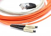 pic of utp  - Optical and data UTP cables on the white background - JPG
