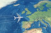 White Civil Airplane Over The Atlantic Ocean Flying To Europe poster