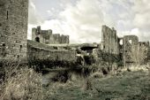 stock photo of braveheart  - 12th century Norman castle north from Dublin used as a scenery of movie Braveheart - JPG