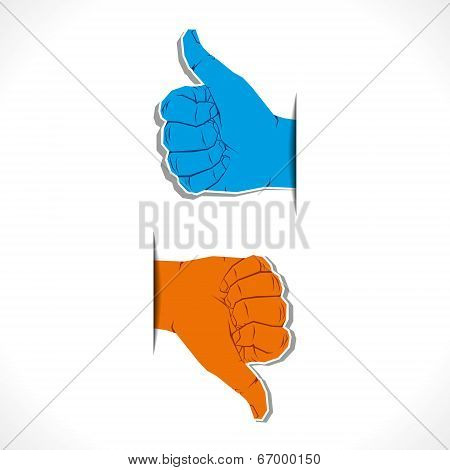 hand like and unlike symbol vector