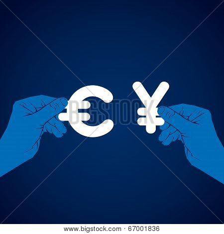 exchange euro and yen currency