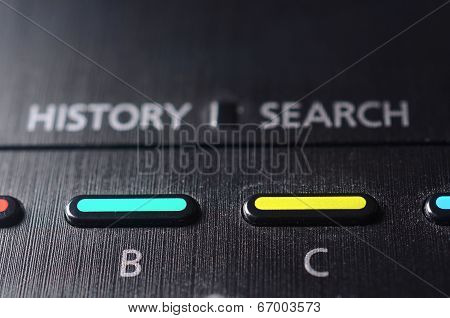B and C buttons on the TV remote