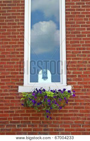 Church Window & Flower Box