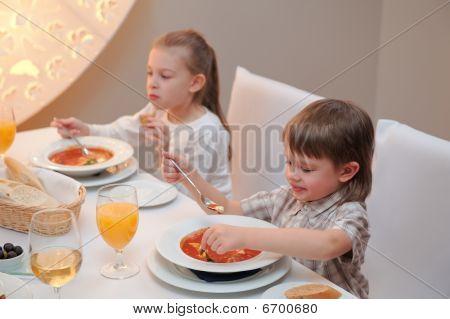Delicious Dinner In Restaurant