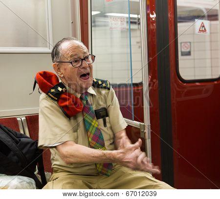 Joyful Man On Toronto Subway