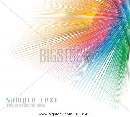 Rainbow Colours Spectrum Business Card Background