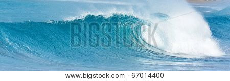 big wave breaking - summer background