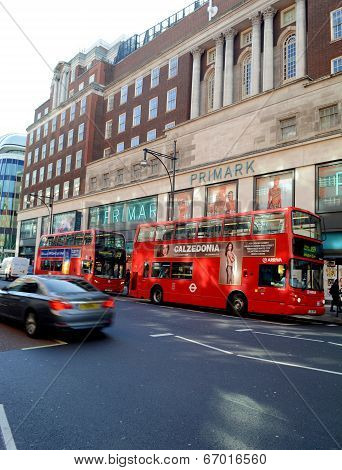 Primark shopping mall in Oxford Street London