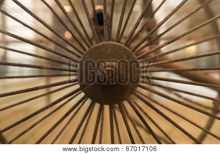 Rusty Bicycle Spokes