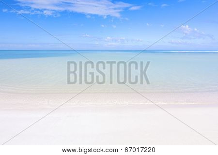 Tropical Beach And Lagoon