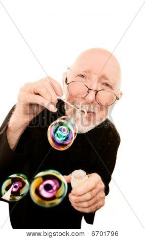 Priest Blowing Bubbles
