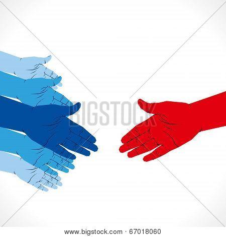 hand shake background vector