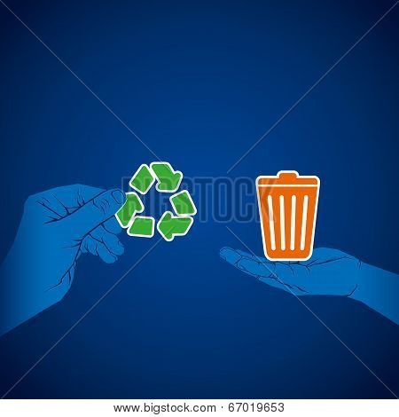 recycle waste product concept vector