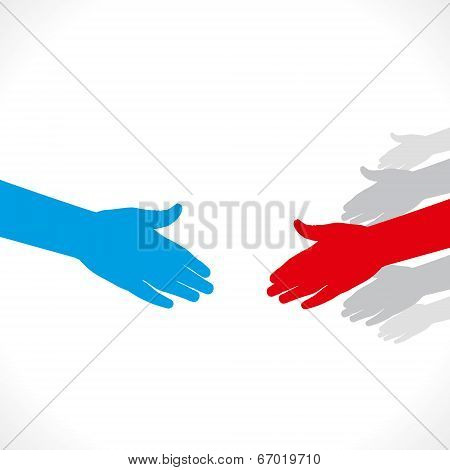 ready to shake hand background vector