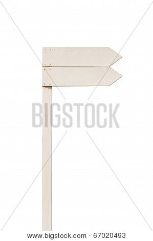 White Empty Arrow Boards On Column.