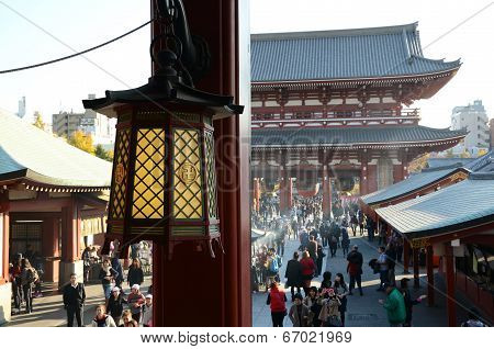 Tokyo, Japan - November 21: The Buddhist Temple Senso-ji Is The Symbol Of Asakusa